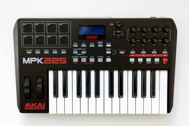 Akai Professional MPK225 25-Key USB MIDI Keyboard & Pad Controller NEW