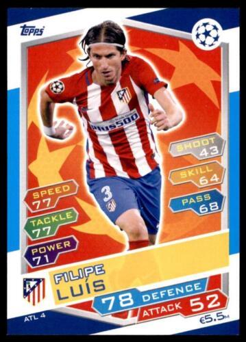 Match Attax Liga de Campeones 16//17 Filipe Luís Atlético Madrid no ATL4
