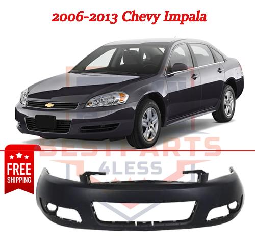 Front Bumper Fog Holes Fits 2010 2011 2012 2013 Chevy Impala GM1000764