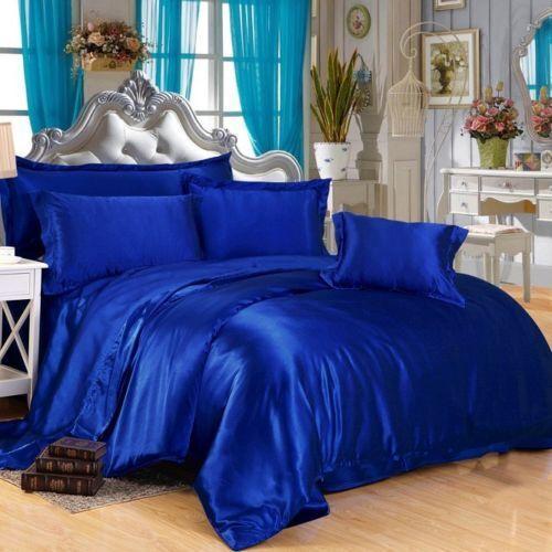UK SUPER KING SIZE 800 1000 1200 TC 100/%Soft Satin Silk Bedding Hotel Collection