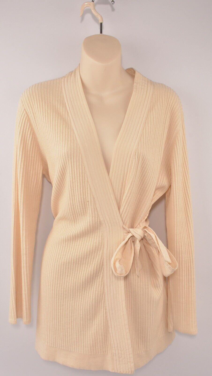 SANDRO Women's Wrap Around Ribbed Cardigan, size