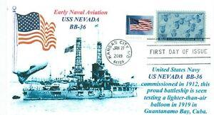 Uss-Nevada-BB-36-Stati-Uniti-Marina-Battleship-Balloon-Guantanamo-Bay-1919-Day