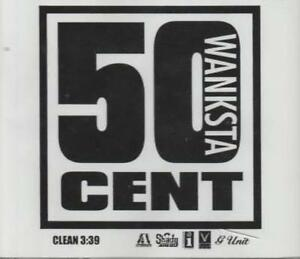 Details about 50 Cent: Wanksta PROMO MUSIC AUDIO CD White Label Shady  Aftermath Clean 1 track