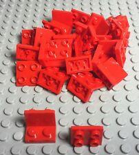 LEGO X25 New Bulk Red Bracket 1 x 2 - 2 x 2 Inverted Up (part #99207)