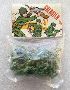 Vintage-Blister-Soldaten-AMERICAN-AFRICA-SOLDIERS-Hong-Kong-60-s-No-Airfix