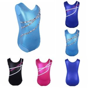 Girls-Kids-Gymnastics-Sparkle-Leotard-Ballet-Dancewear-Athletic-Training-Costume