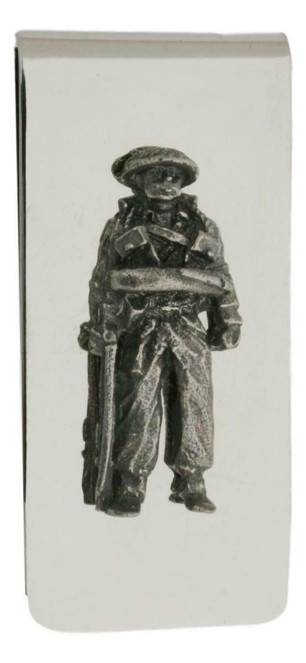 Soldier Metal Money Clip in Gift Box with Free Engraving 561