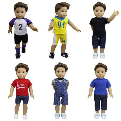 """Basketball Outfit Top /& Shorts fits 18/""""American Girl Doll Boy Logan! GAME ON"""