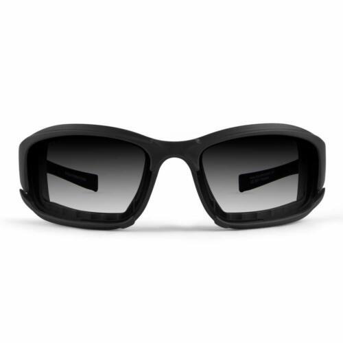 Epoch Hybrid Photochromic Padded Motorcycle Sunglasses Clear to Smoke Lens ANSI