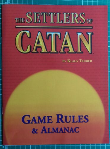 Settlers of Catan 4th Ed 3061 Replacement Cards Tiles Roads Pieces NEW
