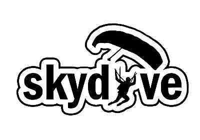 Parachute Jump Skydiving Plane Die Cut Sticker Skydiver Vinyl Decal V2