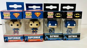 Funko-Pocket-Pop-Superman-And-Batman-Keychains-Lot-Of-4