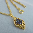 2016 9K Gold Filled Fashion Swarovski Crystal Ruby Long Chain Pendant+Necklace