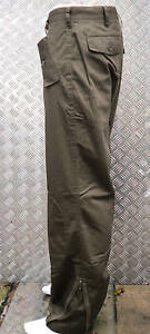 Verde-Italiano-Estilo-Militar-Pantalones-Rectos-Y-Rodilla-Almohadillas-amp