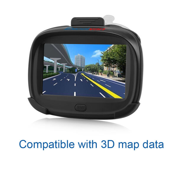 "4.3"" GPS Navi Motorcycle Bike Navigator Waterproof 256MB 8GB SAT NAV + Free Map"