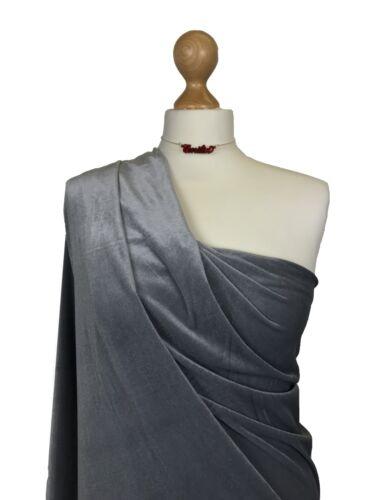 Premium Quality Plain Velour 4 Way Stretch Spandex Velvet Fabric Material PV01