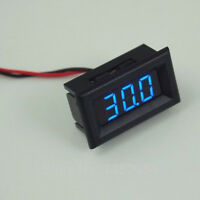 Led Golf Cart Battery Meter Digital Easy 2 Wire Connection (red & Black) Blue