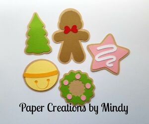 Details About Craftecafe Mindy Christmas Xmas Cookies Premade Paper Piecing Title Scrapbook