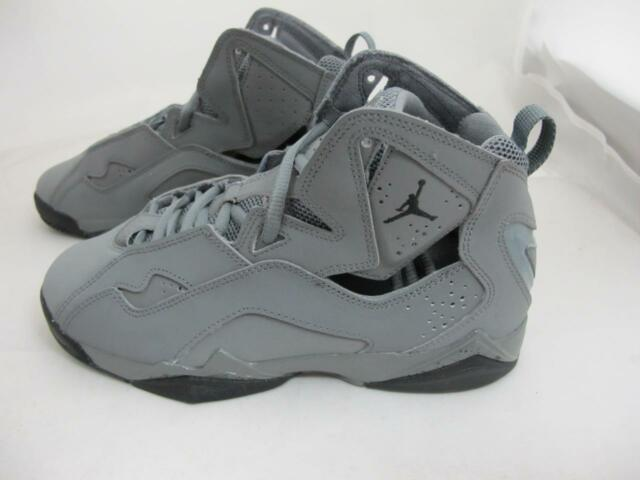 e967f6c9079738 Youth Kids Jordan True Flight BG Cool Grey black 343795-027 Retro 7 ...