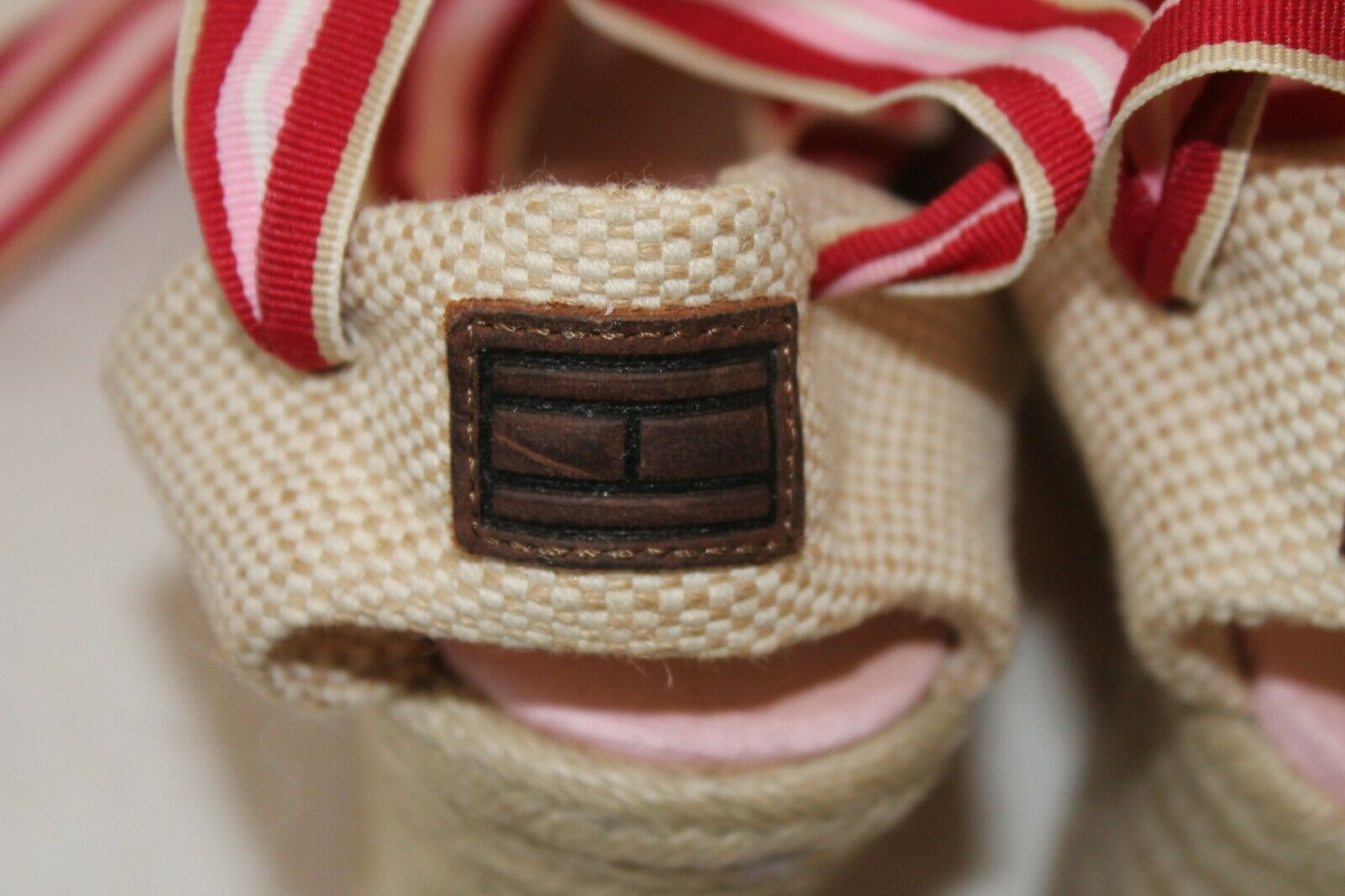 Tommy Hilfiger Womens 7M Pink Canvas Espadrille S… - image 4