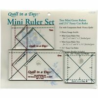 Eleanor Burns Quilt in a Day Mini Ruler Set Craft Supplies on Sale