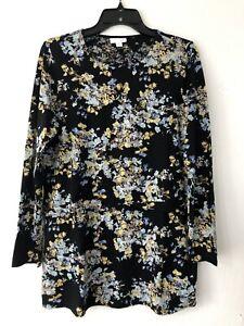 NEW-J-JILL-XS-S-L-XL-Tunic-w-Overlay-Knit-Top-Pima-Cotton-Md-Floral-Black-Blue