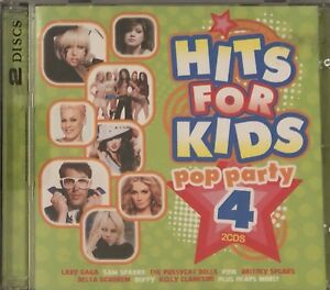 HITS-FOR-KIDS-POP-PARTY-4-2-CD-SET-LADY-GAGA-PINK-KELLY-CLARKSON-DELTA-GOODREM