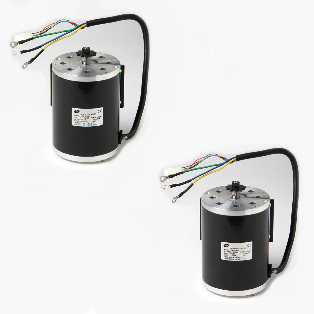Pair (2) 500W 36V BM1020 BLDC electric motor f Bike go-kart minibike Scooter