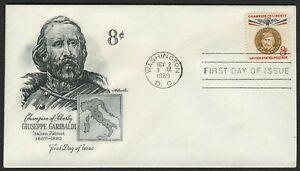 #1169 8c Garibaldi, Artmaster-Addressed FDC Cualquier 5=