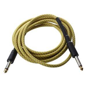 Cable-de-conexion-Amarillo-para-guitarra-acustica-Bass-electrico-3M-T3E1