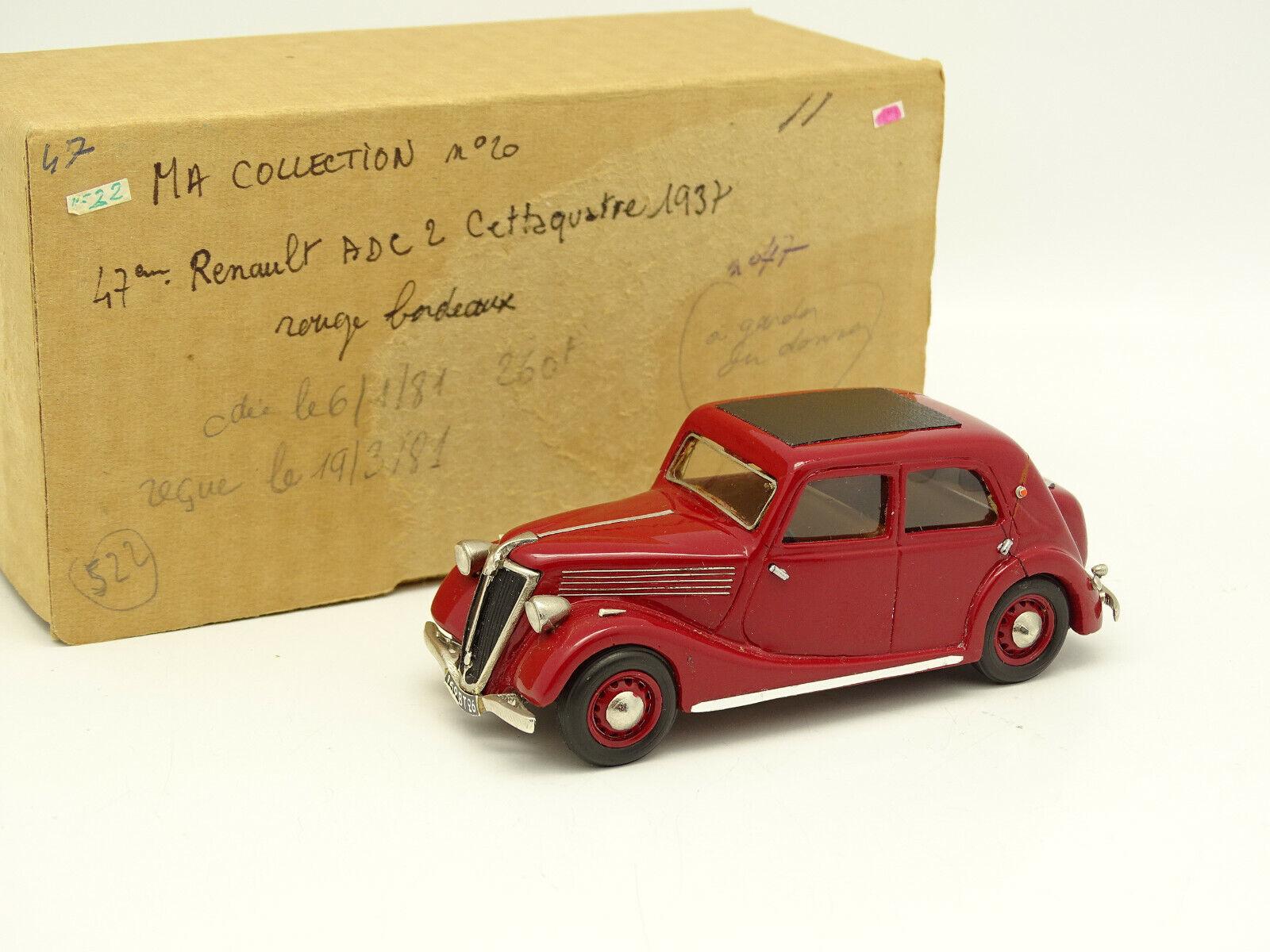 Ma Collection Kit Monté 1 43 - Renault ADC 2 Celtaquatre 1937 rot
