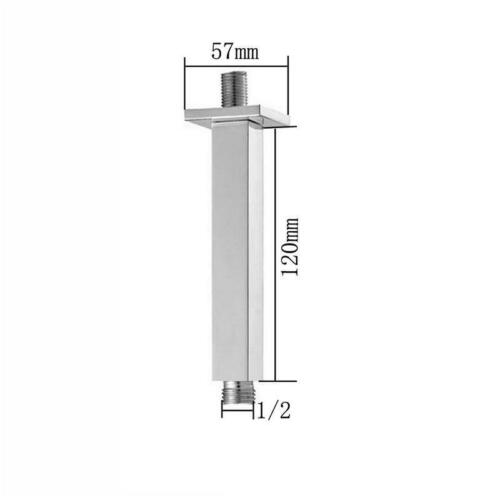 ROUND SQUARE CHROME CEILING SHOWER ARM // EXTENSION 75 360 MM 250 120