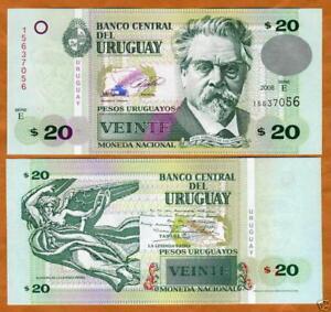 Uruguay Billet 20 Pesos 2008 P86 New Nouveau Unc Neuf Z4o7p8sx-07224757-826358686