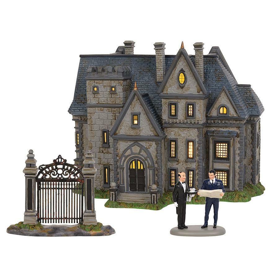 DEPARTSieT 56 Wayne Manor Batman MINT NEW IN BOX    Set 0f 3  6002318 2019