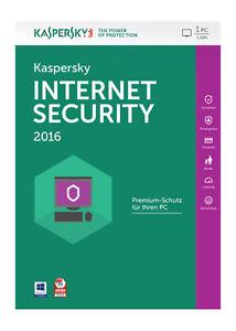 Kaspersky Lab Internet Security 2016 1 User KL1867GBAFS