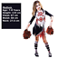 Child-Girls-Zombie-Cheerleader-Fancy-Dress-Costume-Kids-Halloween-High-School thumbnail 10