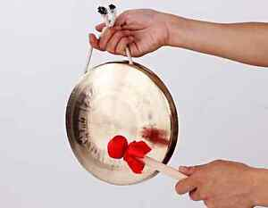 """8"""" hand forging parade middle pitch Chinese with Mallet mediant copper gong gift"""