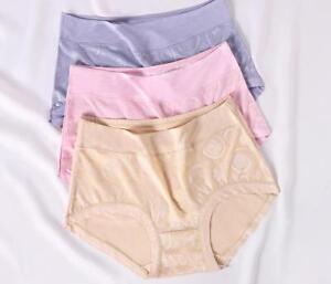 c57d5dd0e8f2 Bamboo Fiber Big Size High Waist Women Panties Underwear Brief ...