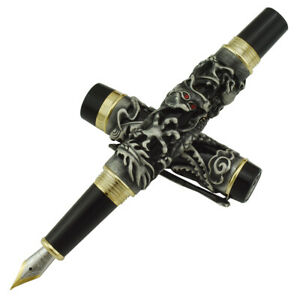 Jinhao Gold /& Red Dragon /& Phoenix Fountain Pen Chinese Custom Luck Clip