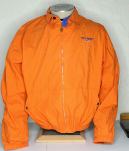 VTG-90s-Polo-Sport-Jacket-Orange-Large-Made-in-USA-Harrington-Ralph-Lauren