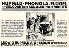 Hupfeld-Phonola-Flügel mit Solodant u.Künstler-Noten Historische Annonce 1913