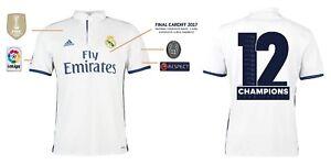 Das Bild wird geladen Trikot-Real-Madrid-Home-Champions-League -Final-Cardiff- 19c7a49951727