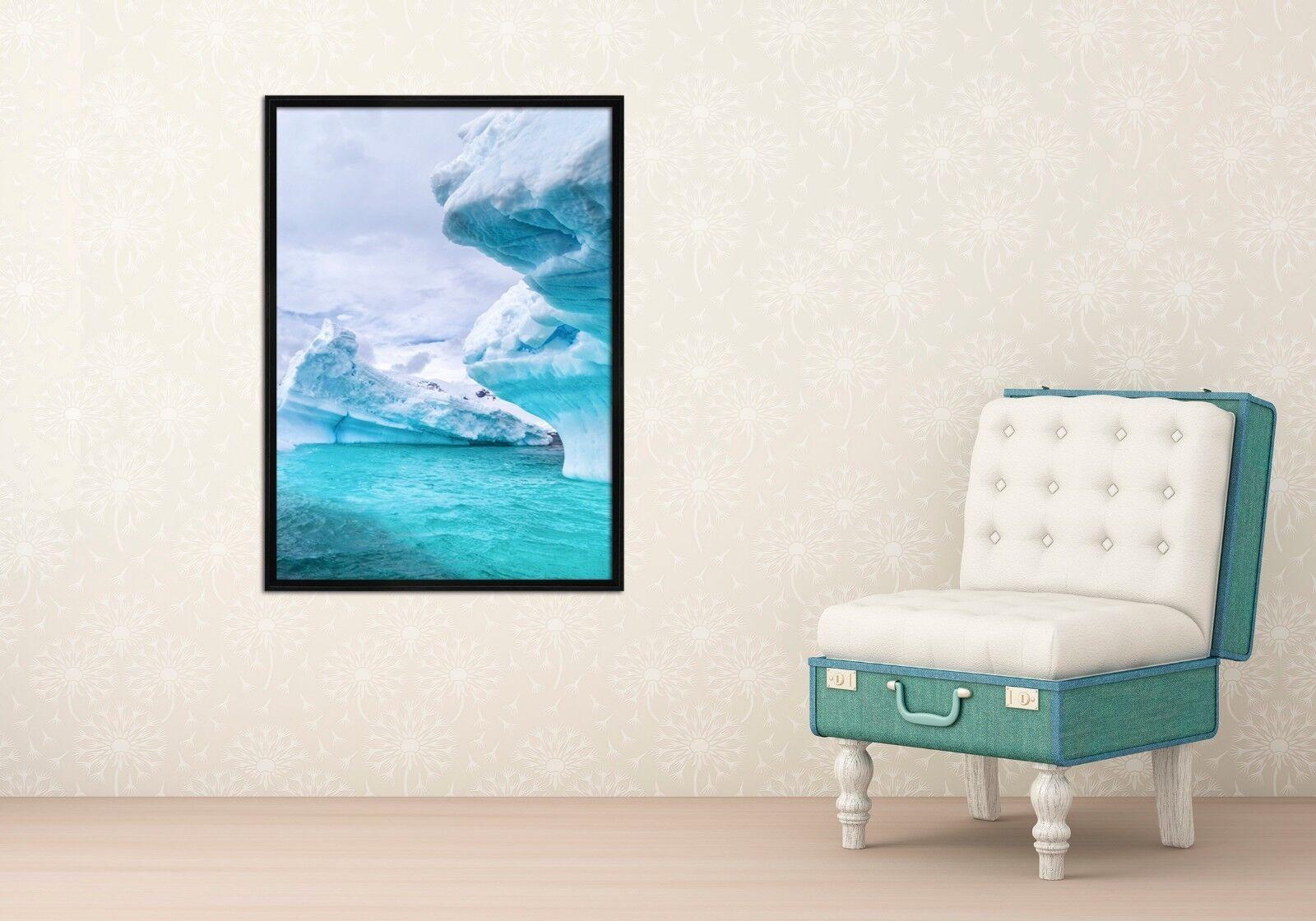 3D Small iceberg 47 Enmarcado Póster Decoración del Hogar Pintura de Impresión Arte AJ