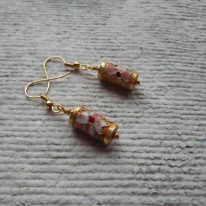 Handmade  Earrings   Russet Cloisonné  Tube - Birmingham, United Kingdom - Handmade  Earrings   Russet Cloisonné  Tube - Birmingham, United Kingdom
