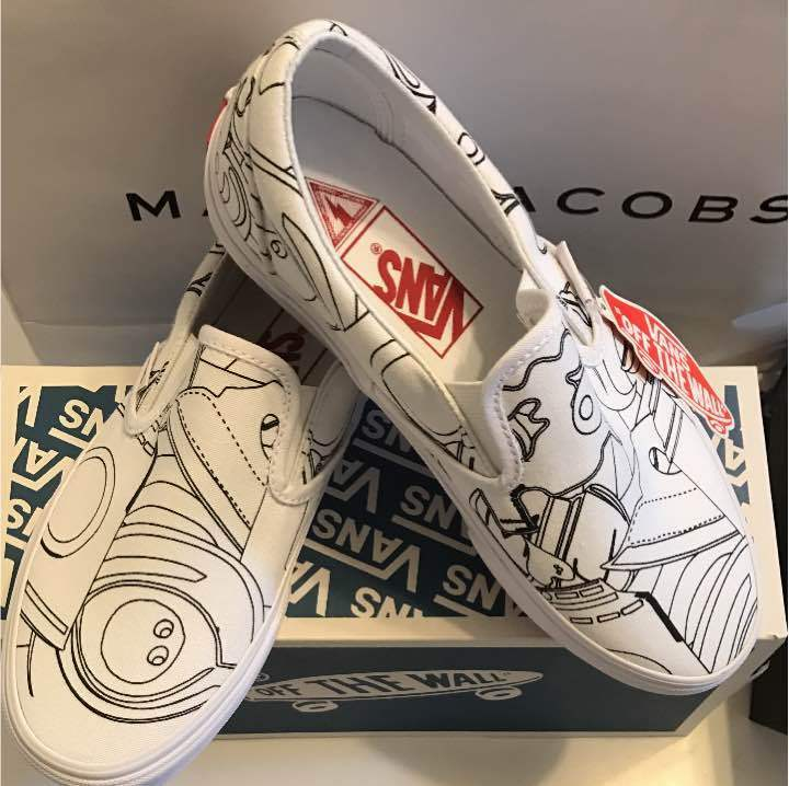 MARC On JACOBS VANS Classic Slip On MARC US 6 sneaker from JAPAN F/S dcaf31