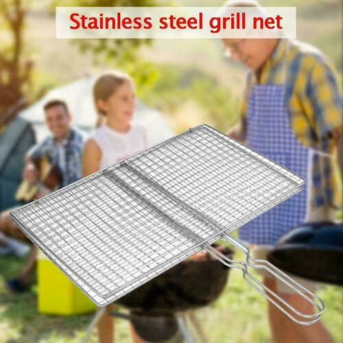Stainless Steel Mesh Folder Grill Fish Rack Barbecue Net Accessories C9L2