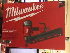 milwaukee 7200 20 3 12 pneumatic full round head framing nailer - Milwaukee Cordless Framing Nailer