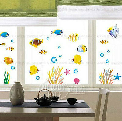Aquatic plants and fish Home room Decor Removable Wall Sticker/Decal/Decoration