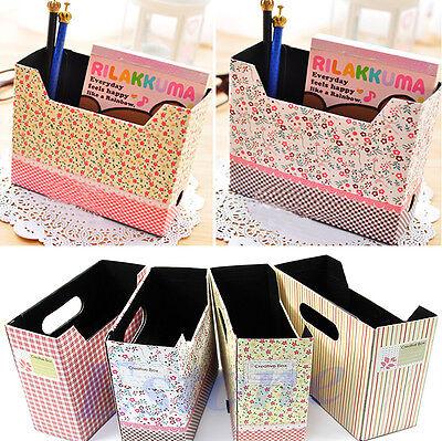 Cute Makeup Cosmetic Stationery Paper Board Storage Box Desk DIY Decor Organizer