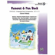 Famous & Fun Rock, Bk 4: 9 Appealing Piano Arrangements, Matz, Carol, New Books
